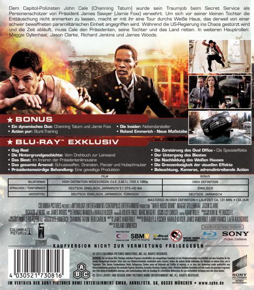 Film White House Down Auf Dvd Oder Blu Ray Kaufen Moviesale Die