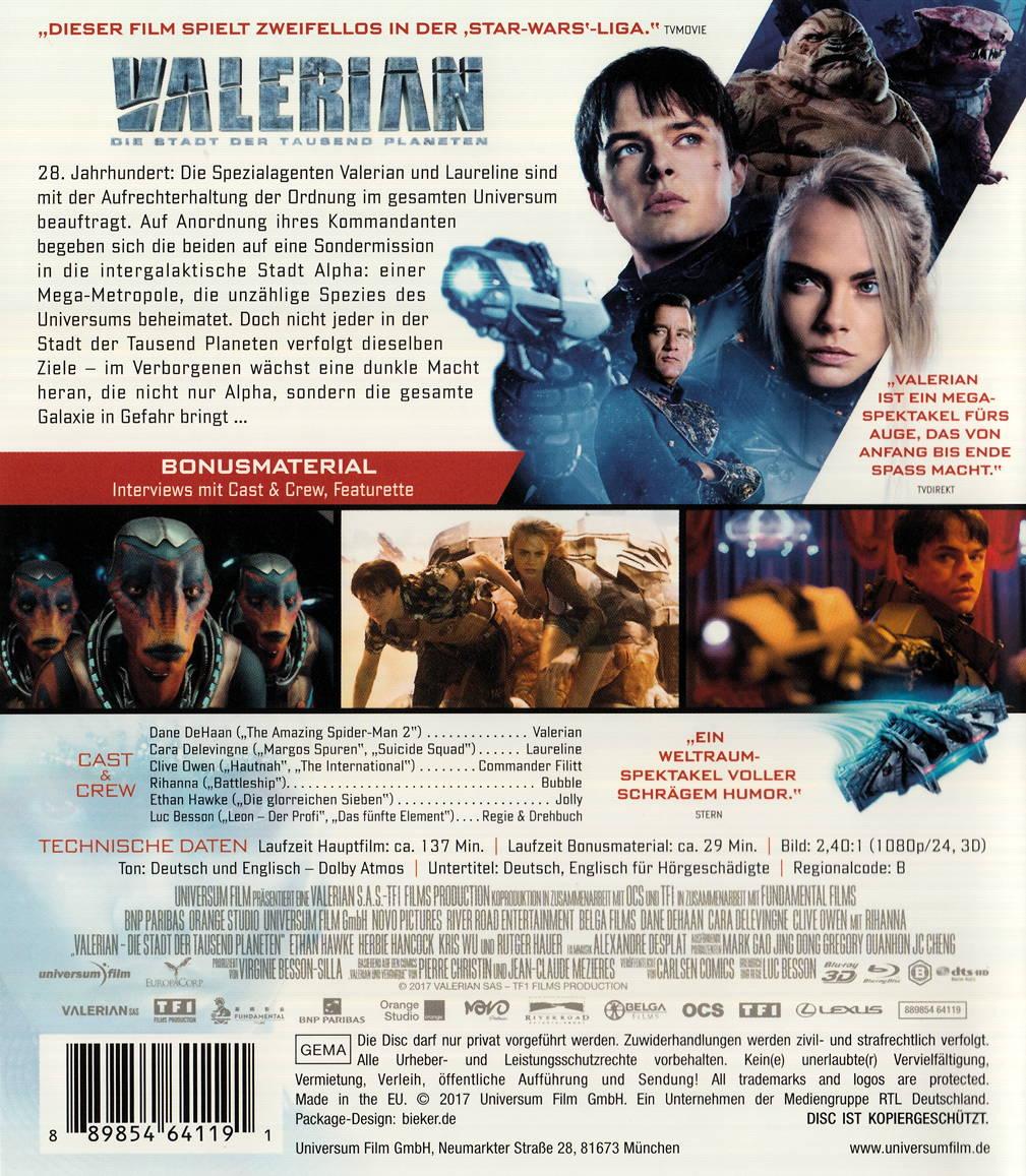film valerian die stadt der tausend planeten auf dvd oder blu ray kaufen moviesale die. Black Bedroom Furniture Sets. Home Design Ideas