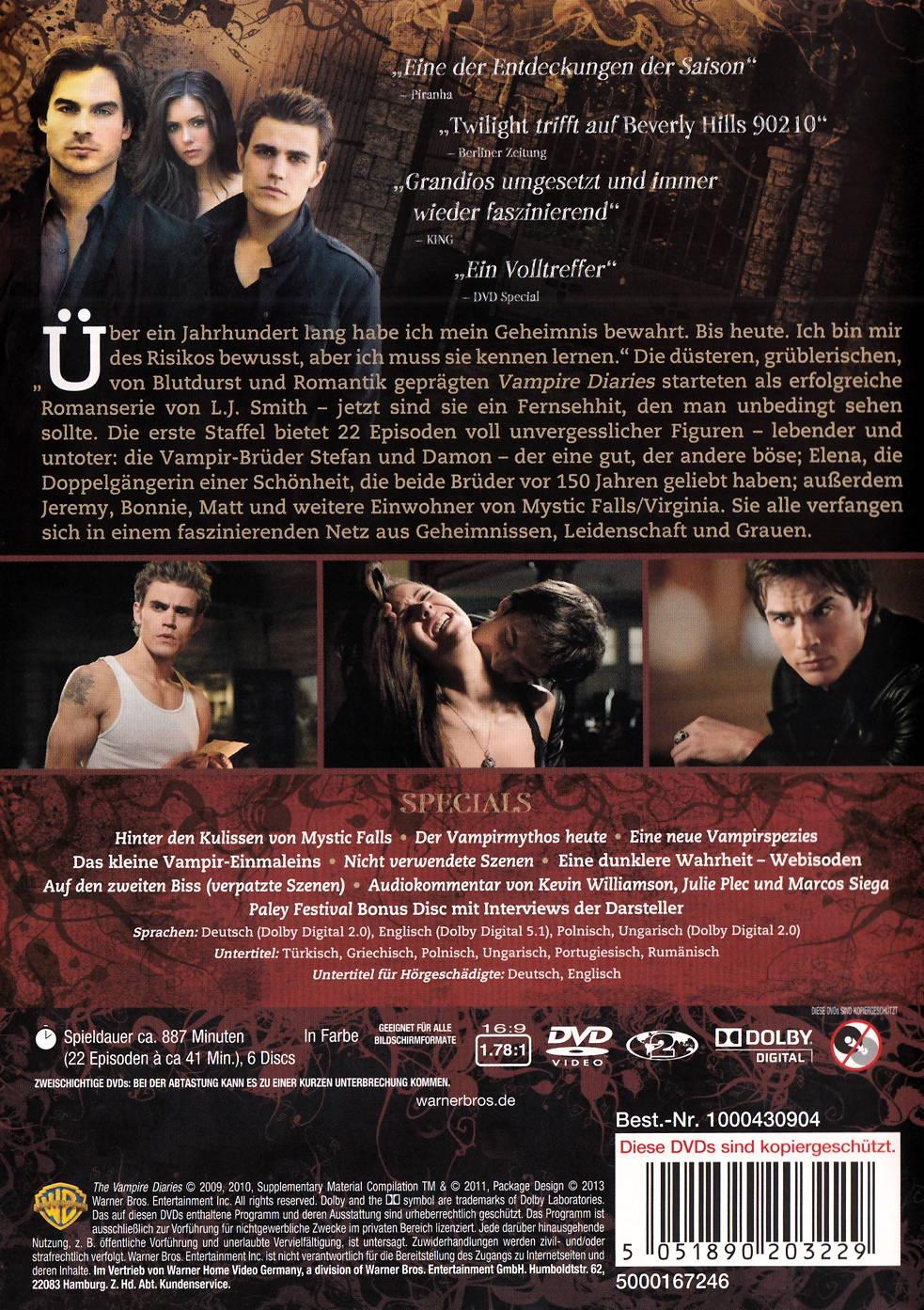 film the vampire diaries staffel 1 auf dvd oder blu ray kaufen moviesale die online. Black Bedroom Furniture Sets. Home Design Ideas