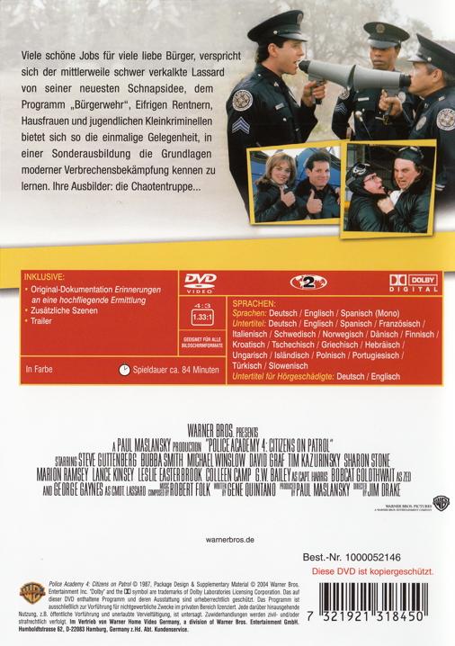 Film Police Academy 4 Und Jetzt Geht S Rund Auf Dvd Oder
