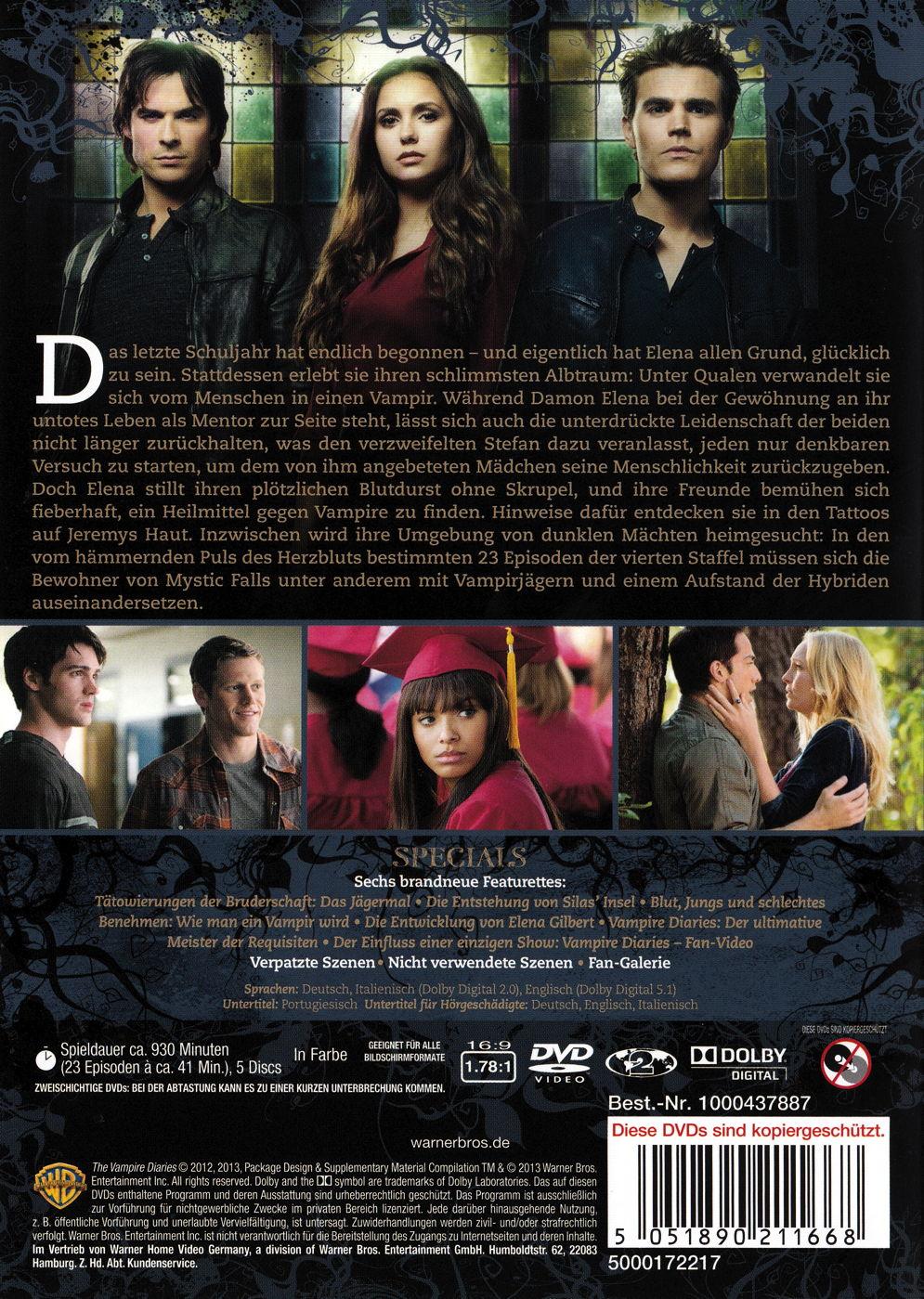 film the vampire diaries staffel 4 auf dvd oder blu ray kaufen moviesale die online. Black Bedroom Furniture Sets. Home Design Ideas