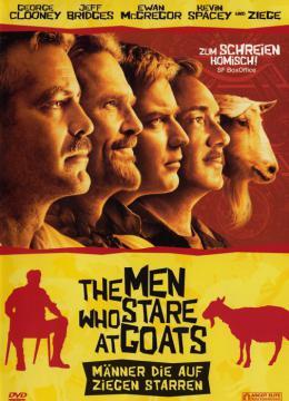Männer, die auf Ziegen starren